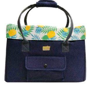 Pet carrier, pineapple Petite Pistache